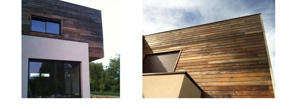 d griseur et saturateur bois sur bardage en red cedarentretien du bois le blog du comptoir des. Black Bedroom Furniture Sets. Home Design Ideas
