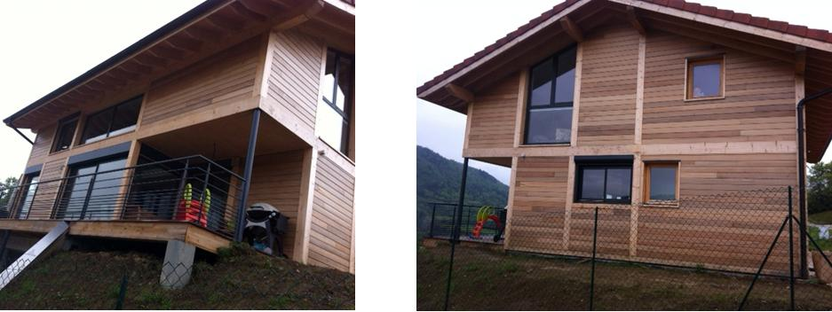 Bardage en red cedar avec protection anti uv - Bardage red cedar ...
