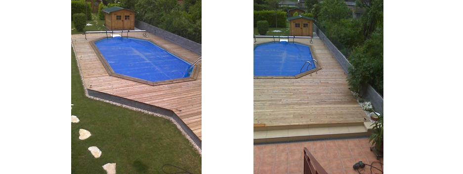 une terrasse en mélèze avec un saturateur teintéEntretien du bois