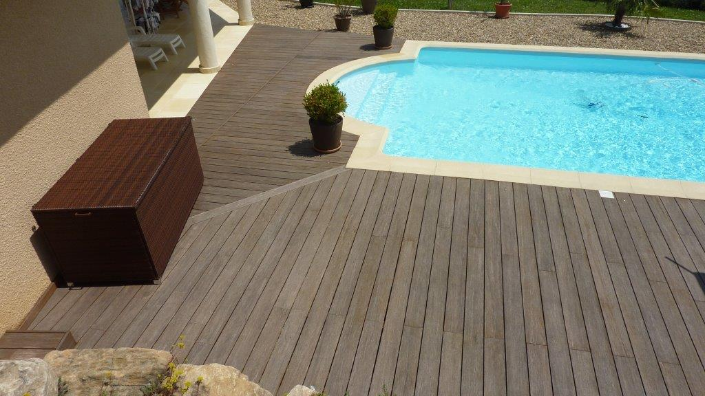 terrasse piscine bambou. Black Bedroom Furniture Sets. Home Design Ideas