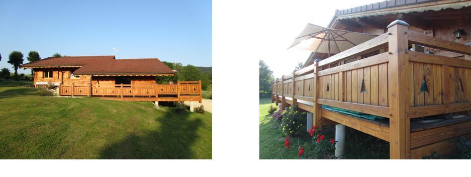 Les terrasses aussi sont en douglas, elles couvrent une surface d