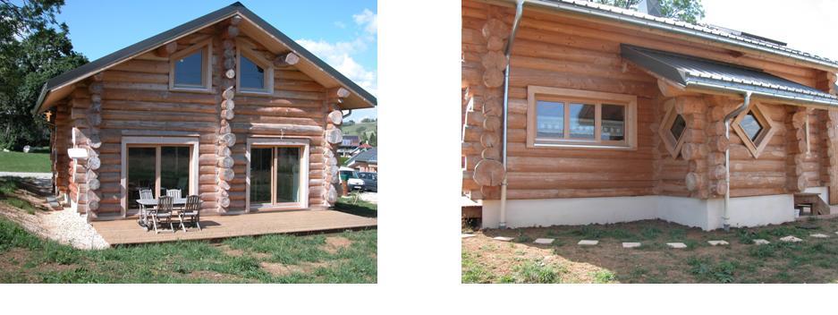 huile 224 chalet sur maison en bois rond fuste entretien du bois le du comptoir des