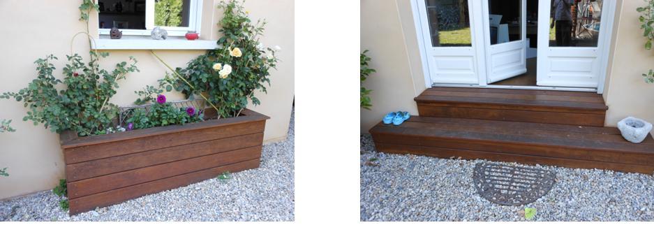 Bois exotique rénové avec un saturateur teintéEntretien du bois