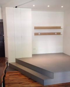 estrade en bois prot g e et d cor e avec une huile cire. Black Bedroom Furniture Sets. Home Design Ideas