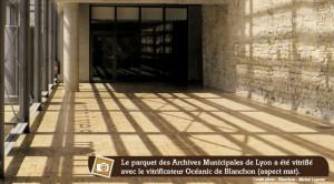 parquet de la salle des Archives de Lyon
