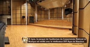 parquet au conservatoire national de musique de Lyon