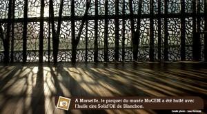 parquet huilé-ciré d'un célèbre musée à Marseille