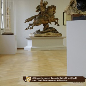 parquet huilé dans un musée