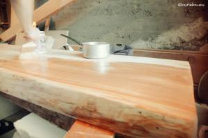 huile table extérieure mélèze