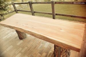 table bois mélèze huilé