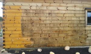 maison bois madriers noircies