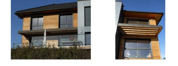 bardage red cedar avec saturateur façade sud