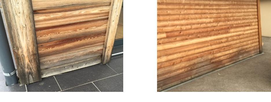 maison en bois avec quoi d griser et entretenir le bardage entretien du bois le blog du. Black Bedroom Furniture Sets. Home Design Ideas