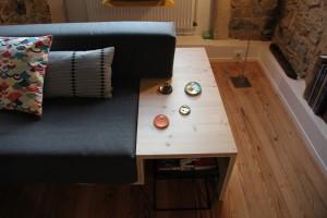 huile dure sur meuble en bois
