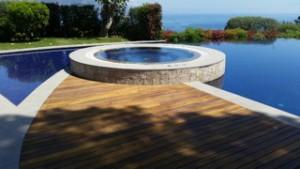 terrasse bois avec saturateur