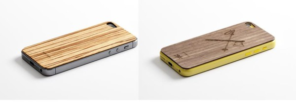 2 coques en bois iPhone