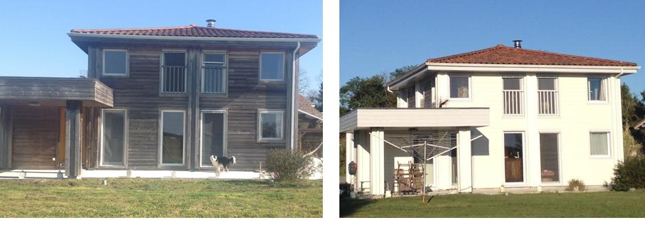 maison bois avant après peinture