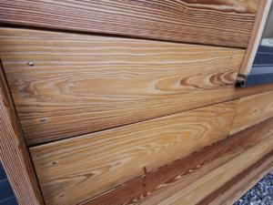 Ossature bois après application CORIDégris'Pro