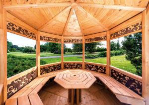 mobilier jardin entretenu avec saturateur Durieu