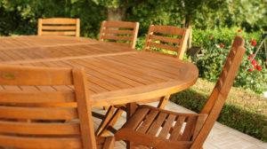 mobilier de jardin entretenu avec saturateur Durieu