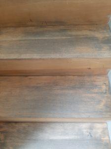 escalier avant vitrification